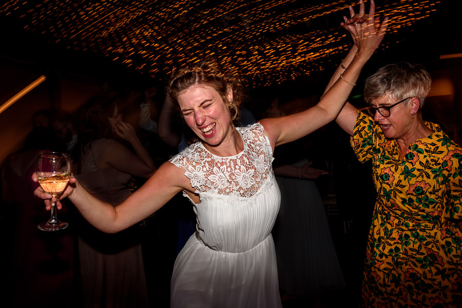 Bride dancing with her mum