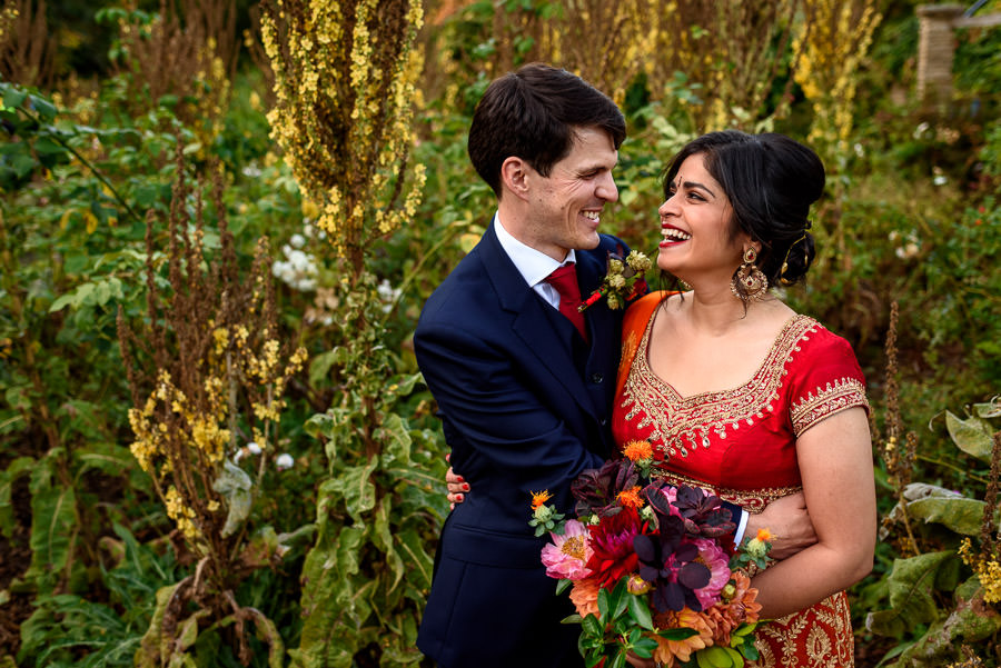 mixed culture British-Indian wedding couple