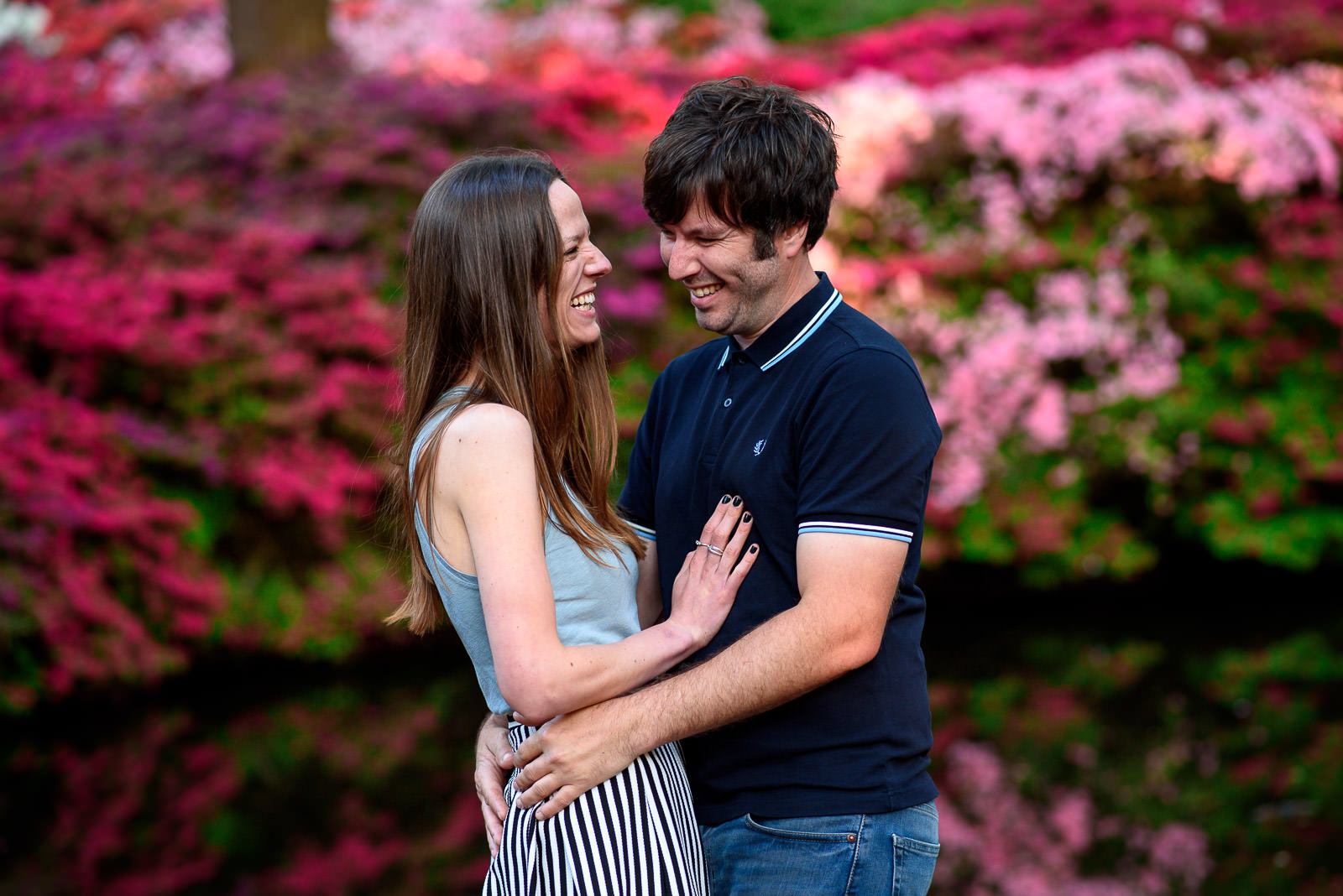 Couple photo shoot at Isabella Plantation in Richmond Park