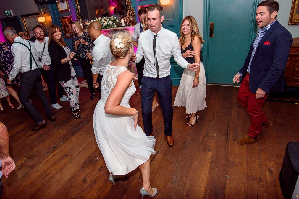 Bride and groom dancing at The County Arms wedding