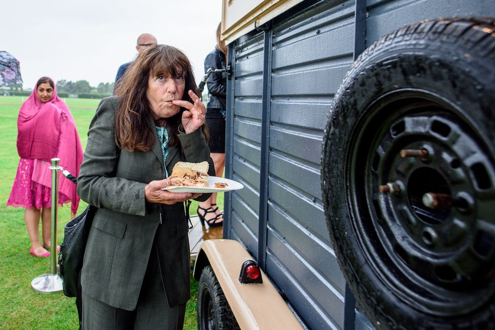 Food truck at Barleylands festival wedding