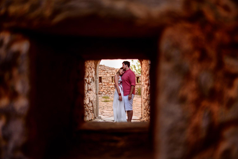 Couple hugging on a Destination Engagement photo shoot