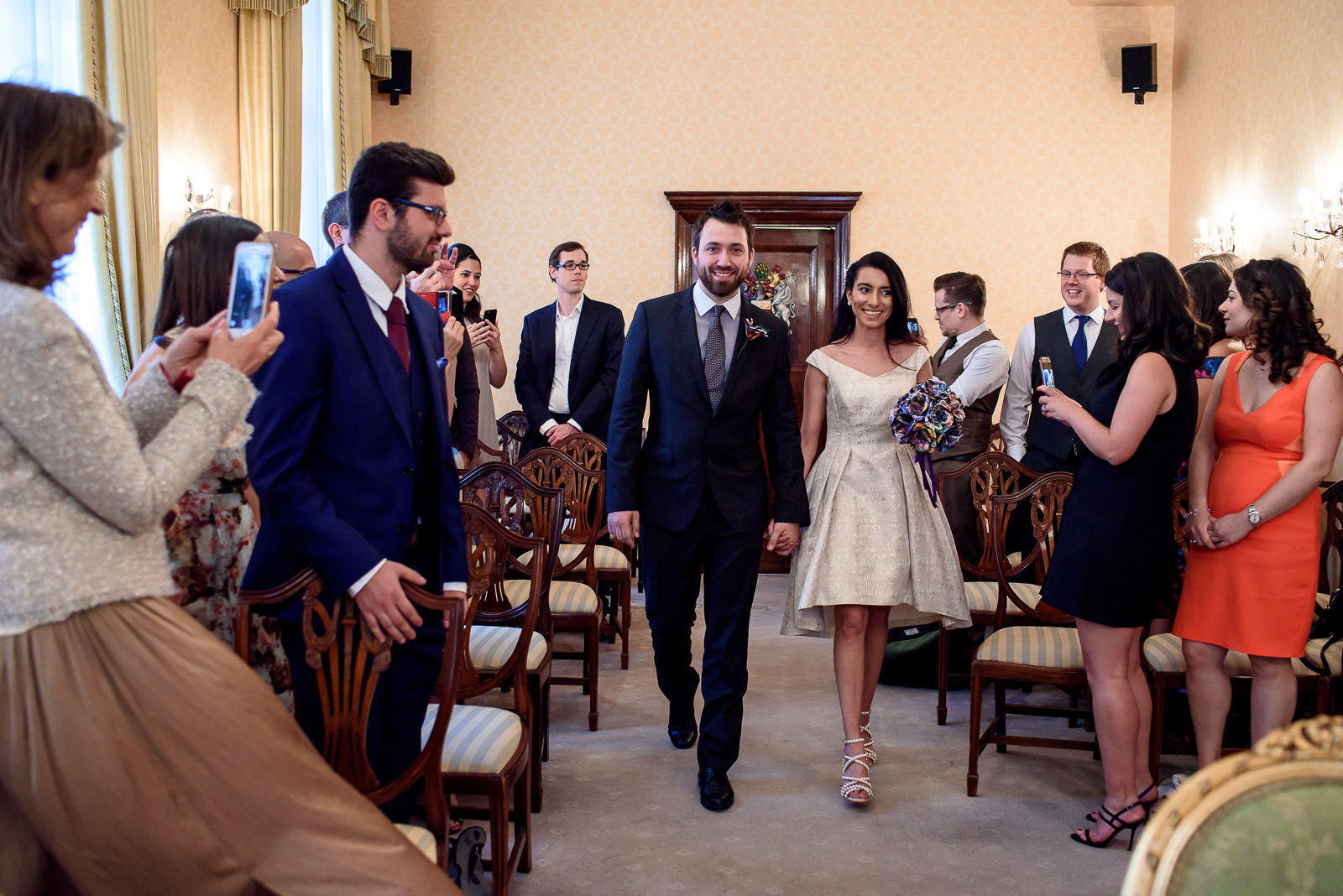 wedding ceremony at Chelsea Old Town Hall