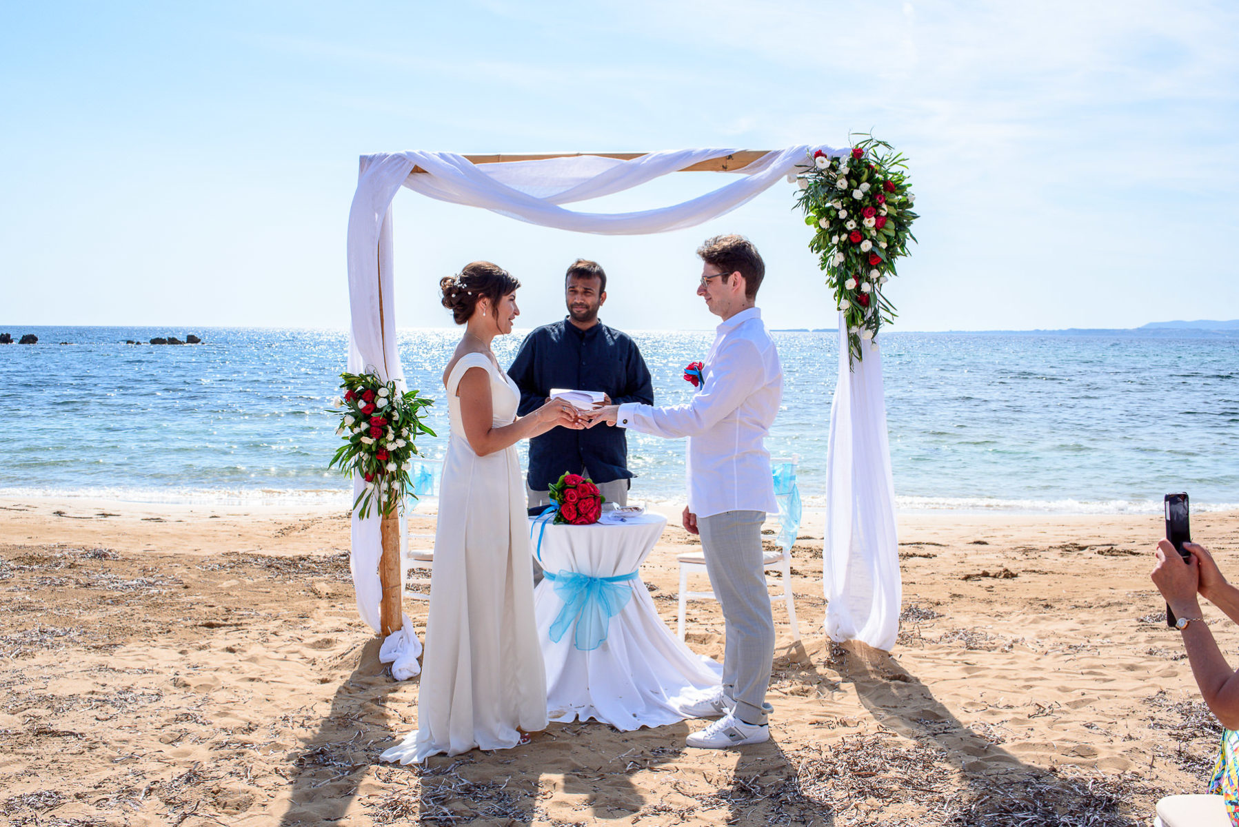 beach wedding in kefalonia Greece