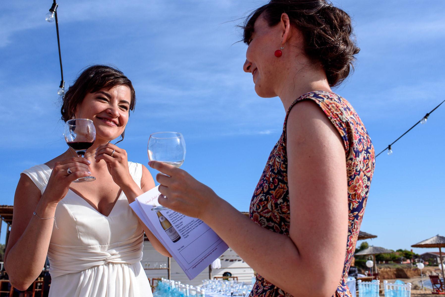 beach reception on a destination wedding in Greece
