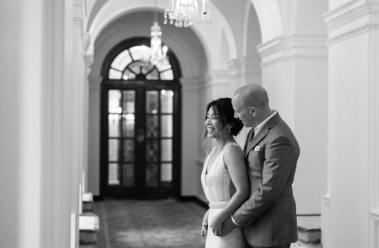Bride and groom enjoying a quiet moment at The Ned