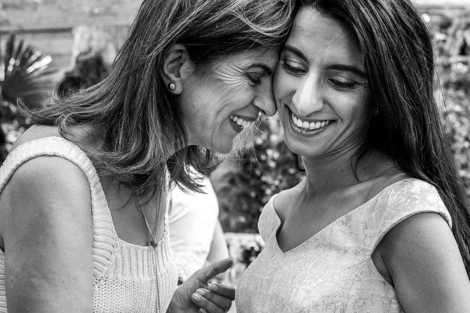 Emotional mother daughter moment at a wedding at The Phene in London