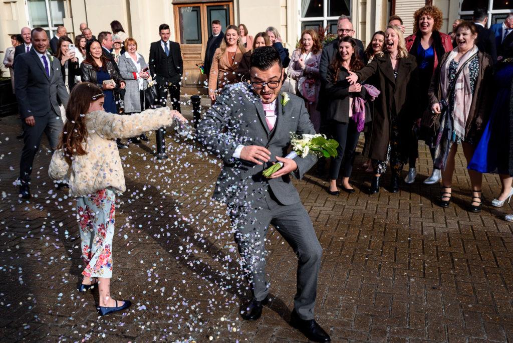 confetti at Brighton Town Hall Wedding