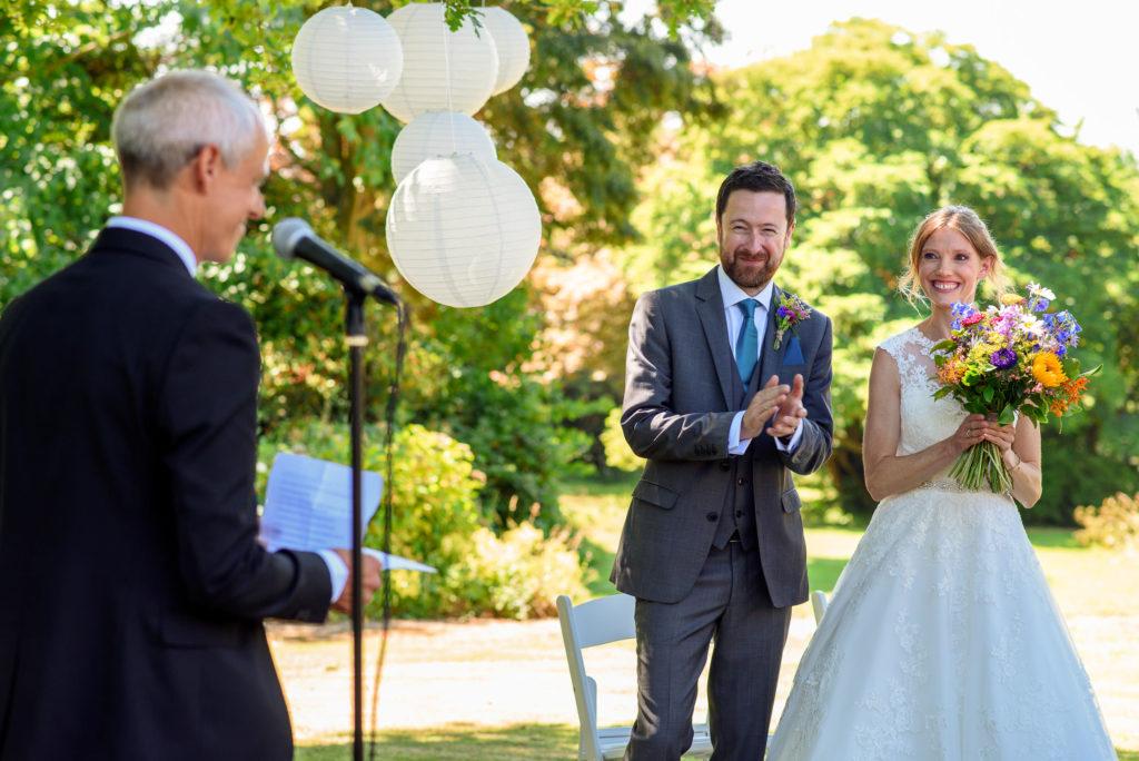 Wedding ceremony at Patricks Barn
