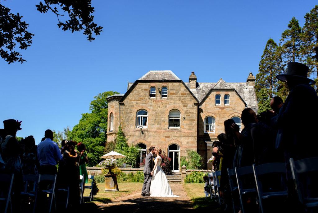 outdoors wedding ceremony at Patricks Barn