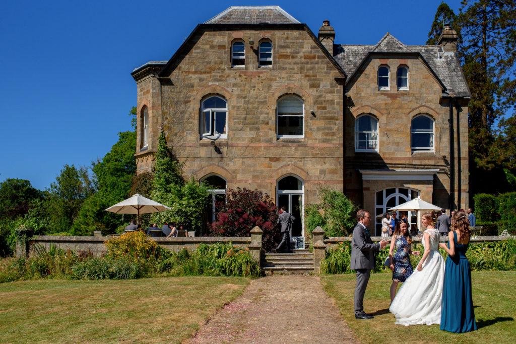 Bride during reception at Patricks Barn