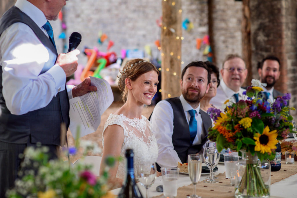 speeches at Patricks Barn Wedding
