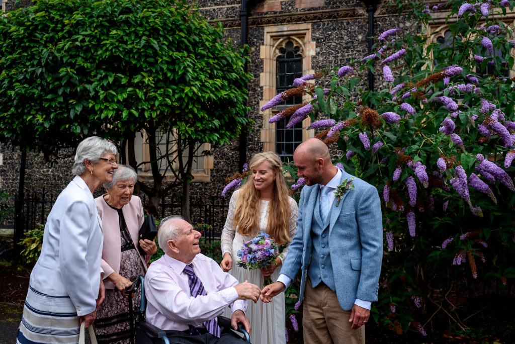 family photos at Brighton College Wedding