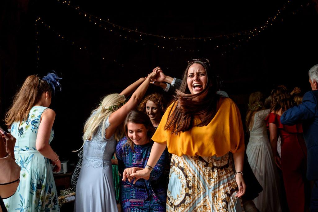 ceilidh dancing at Brighton festival wedding