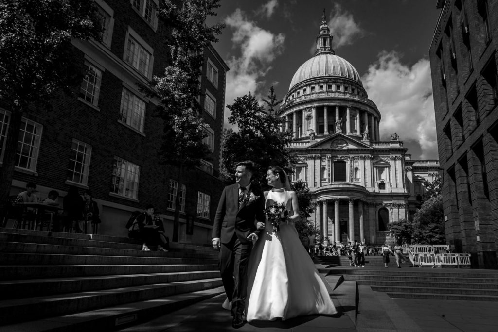 Wedding photos at St Paul's Cathedral
