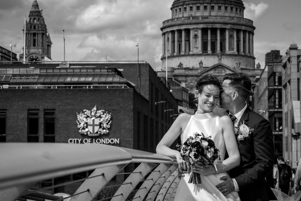 Millenium Bridge wedding photos