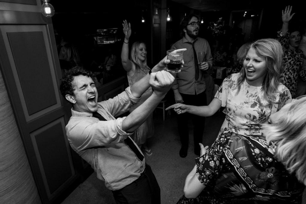 dancing at the Happenstance wedding venue