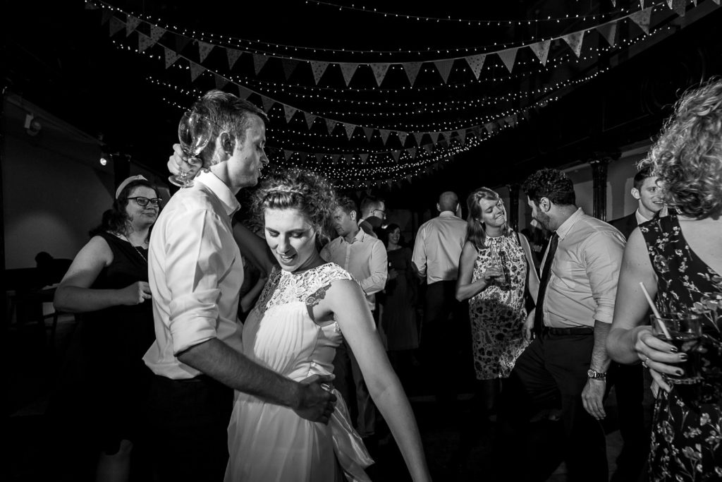 wedding couple dancing at Fabrica in Brighton