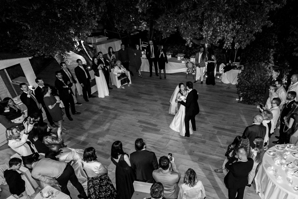 first dance on destination wedding in Castiglioncello Italy