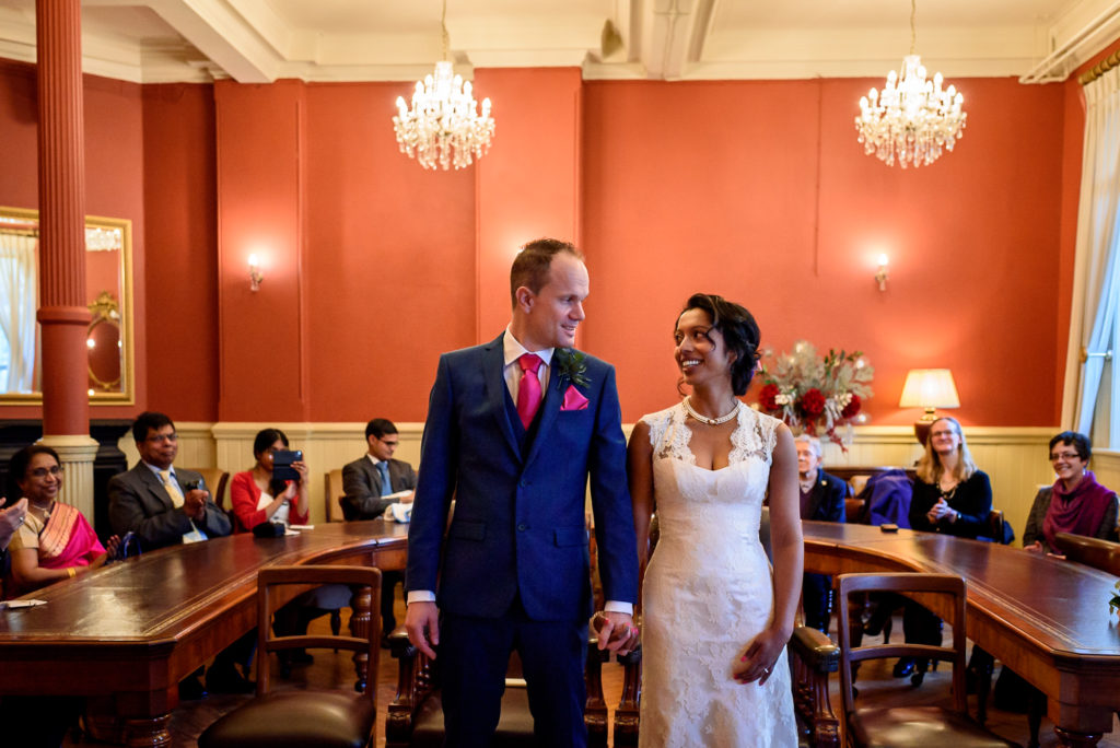 Recency room wedding ceremony at Brighton town hall