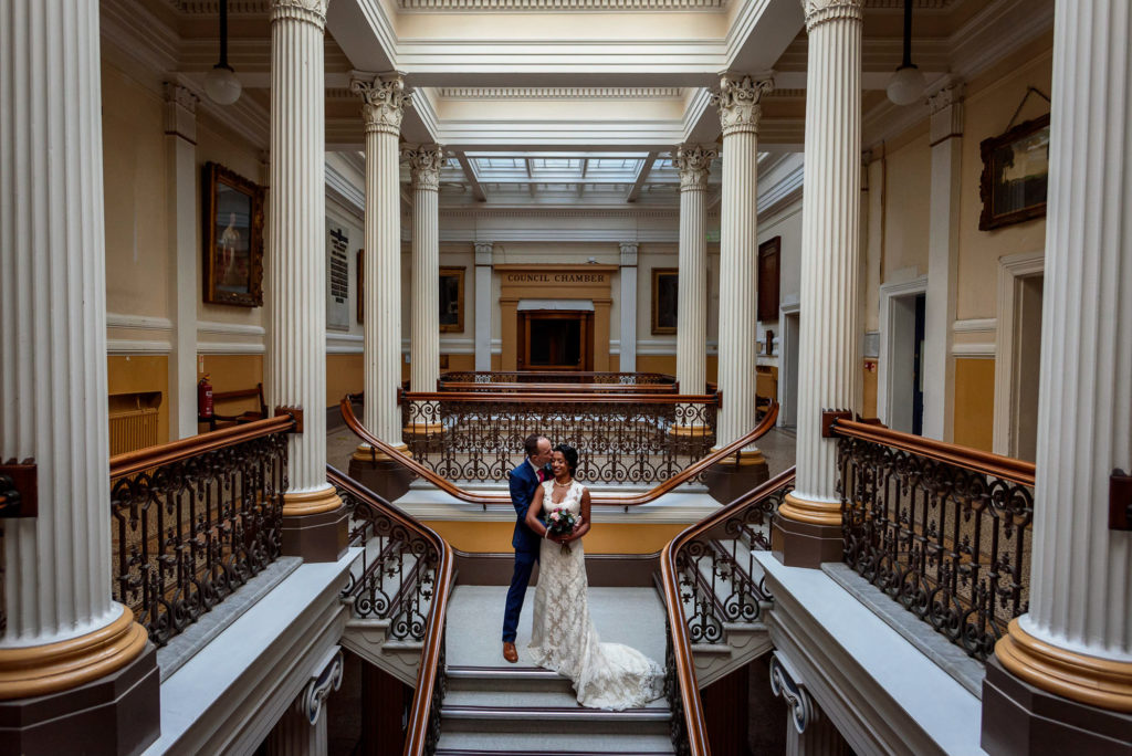 couple portraits at Brighton town hall wedding