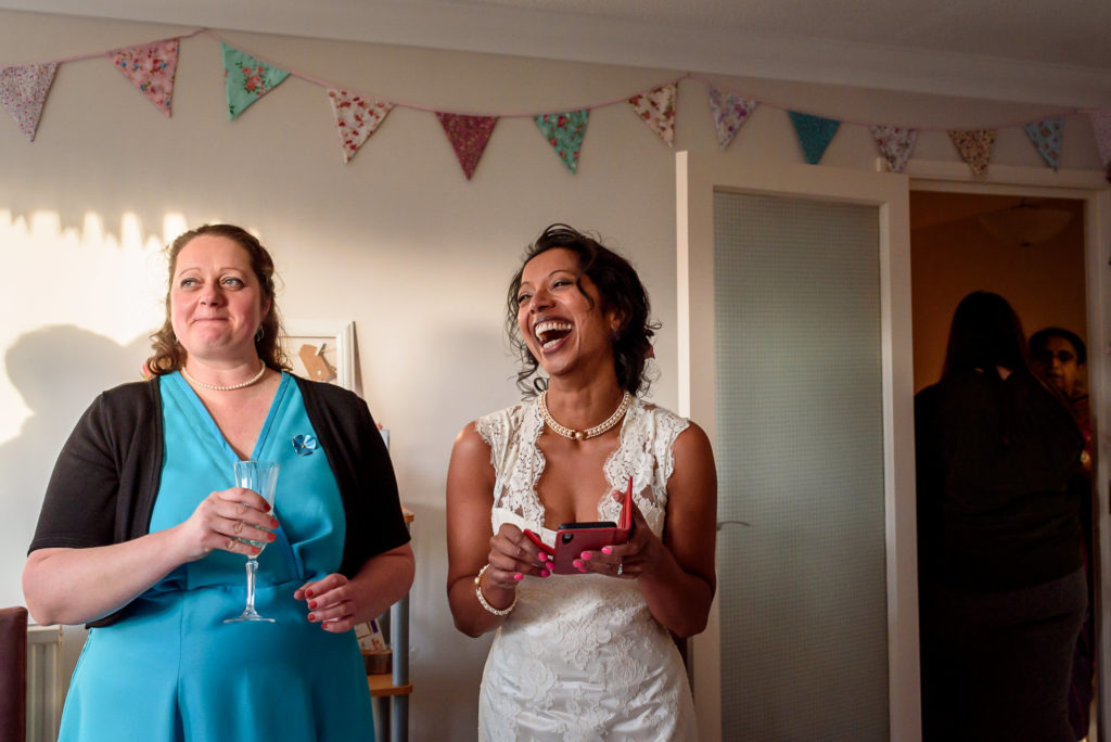 intimate wedding at home in Brighton