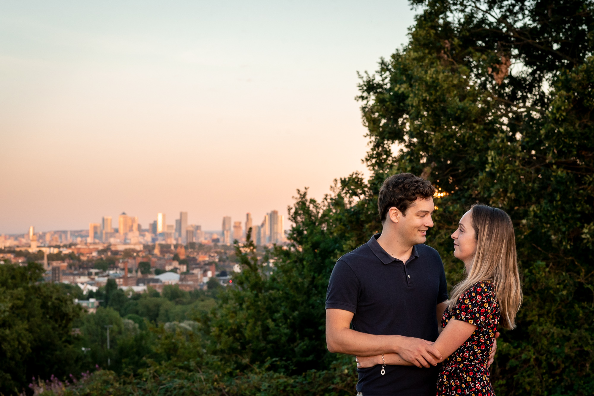 parliament Hill engagement photo