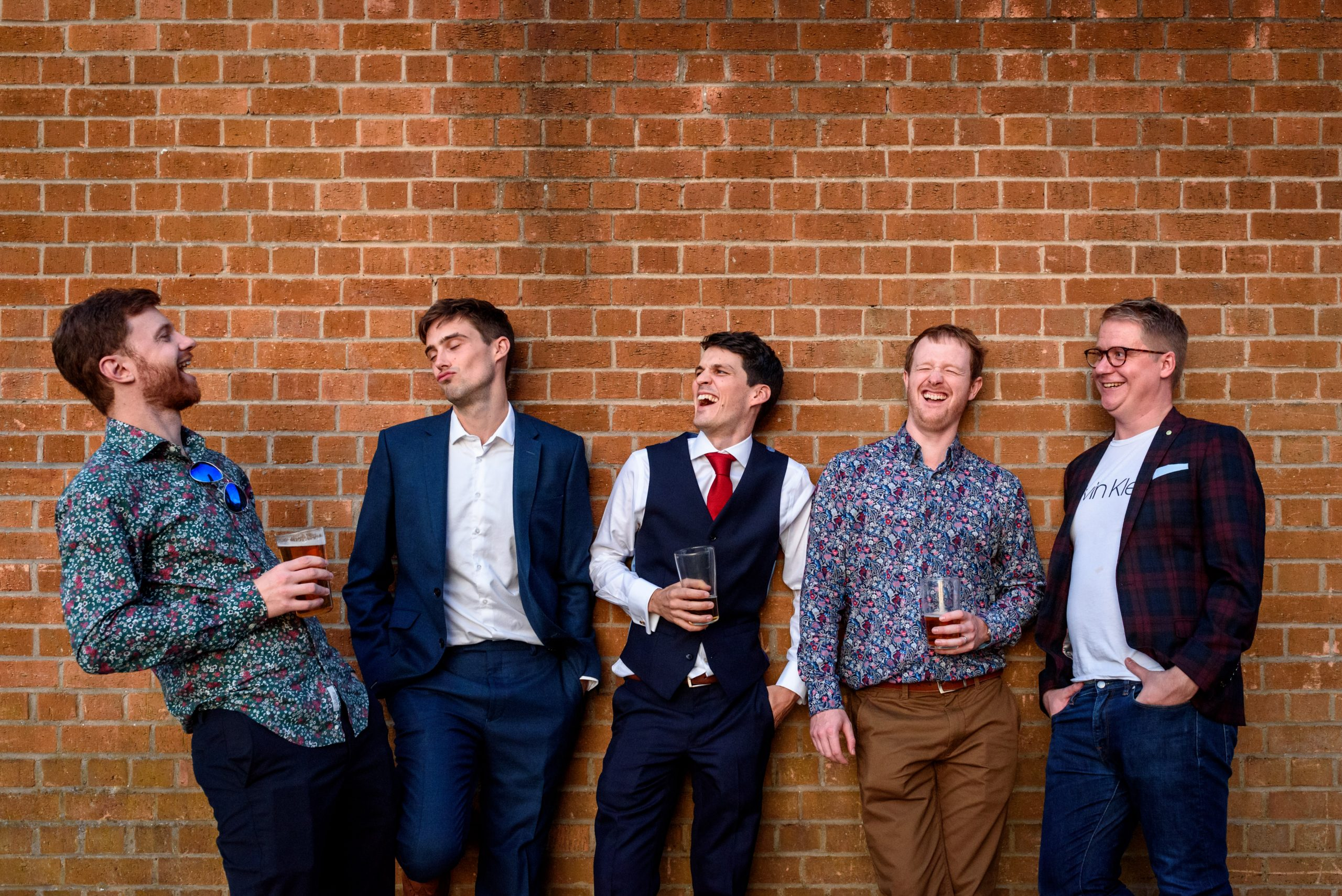 groom group photo at the Ivy House Peckham